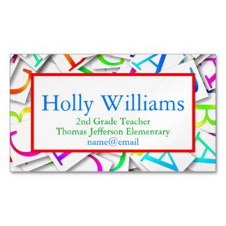 Colorful ABC Teacher Educator Business Card