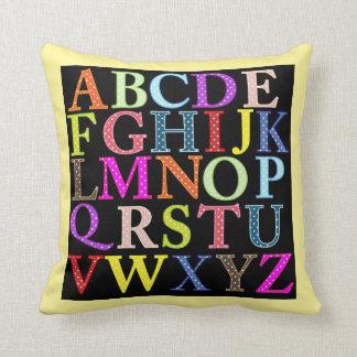 Colorful ABC's ALPHABET PILLOW