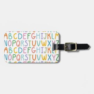 Colorful ABCs Bag Tag