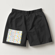 Colorful ABCs Boxers