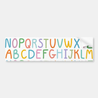 Colorful ABCs Bumper Sticker