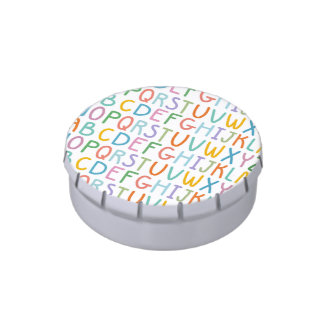 Colorful ABCs Candy Tins