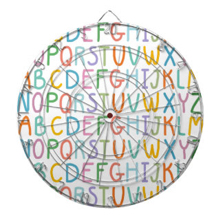 Colorful ABCs Dart Board