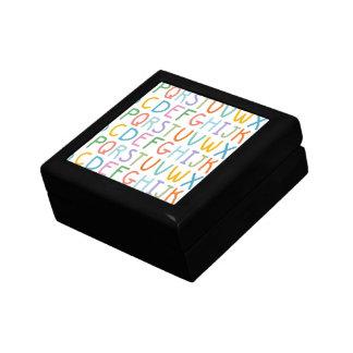Colorful ABCs Keepsake Box