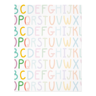 Colorful ABCs Letterhead