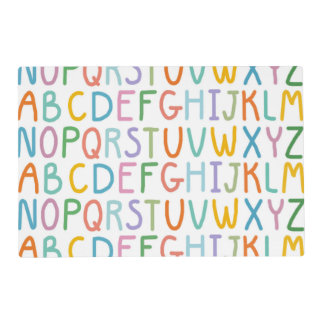 Colorful ABCs Placemat