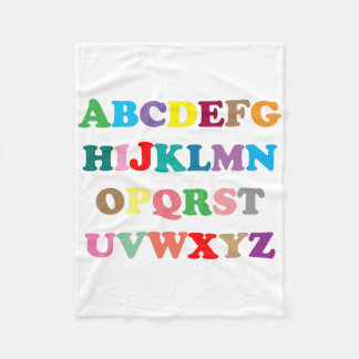 Colorful ABC's print Fleece Blanket