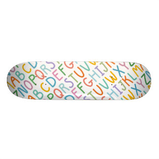 Colorful ABCs Skateboard Deck