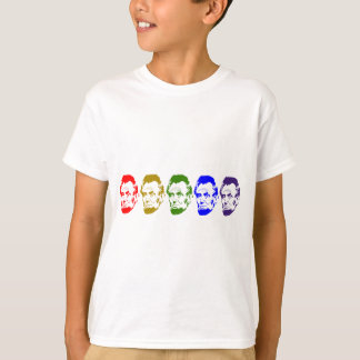 Colorful Abe Lincoln Abstract Art T-Shirt