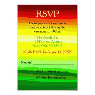Colorful Abstact Landscape - Reception RSVP Card