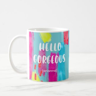 Colorful Abstract 1980s Pattern | Hello Gorgeous Coffee Mug