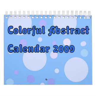 Colorful Abstract 2009 Calendar