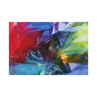 Colorful Abstract 3D Image Canvas
