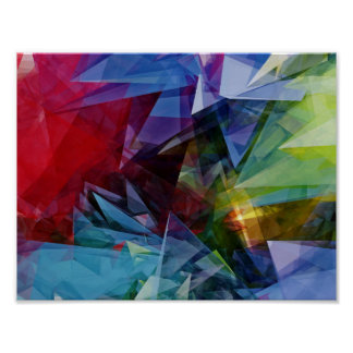 Colorful Abstract 3D Image Poster