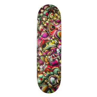Colorful Abstract 3D Shapes Skateboard Deck