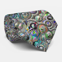 Colorful Abstract 3D Spheres Neck Tie