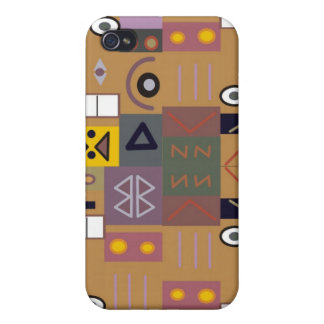 Colorful abstract African art Cover For iPhone 4