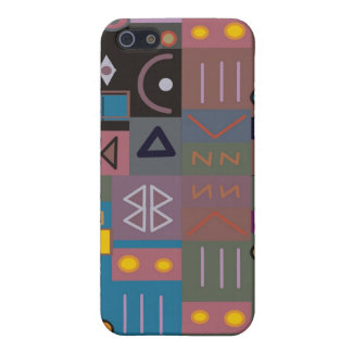 Colorful abstract African art Cover For iPhone SE/5/5s