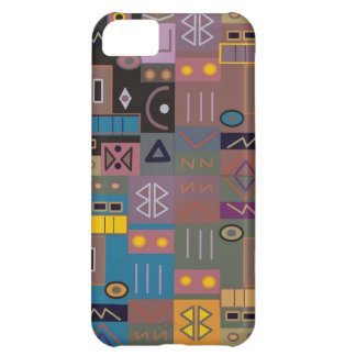 Colorful abstract African art iPhone 5C Cover