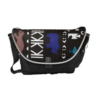 Colorful abstract African art Messenger Bag