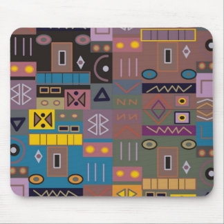 Colorful abstract African art Mouse Pad