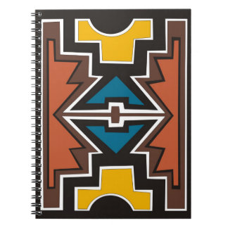 Colorful abstract African art Spiral Notebook