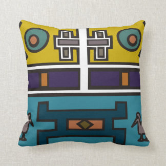 Colorful abstract African art Throw Pillow