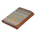 Colorful abstract African art Leather Tri-fold Wallet