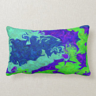 Colorful abstract American MoJo Pillow