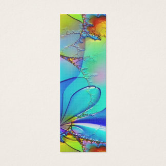 Colorful Abstract Art Bookmark Mini Business Card