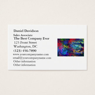 Colorful Abstract Art Business Card