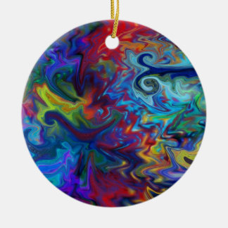 Colorful Abstract Art Ceramic Ornament