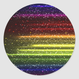 Colorful Abstract Art Classic Round Sticker