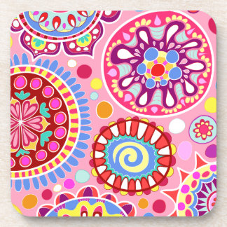 Colorful Abstract Art Coasters - Set of 6 Beverage Coasters