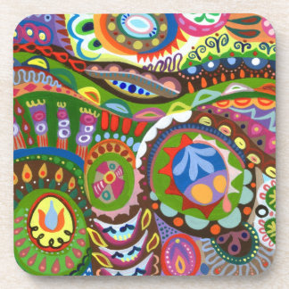 Colorful Abstract Art Coasters - Set of 6 Drink Coaster