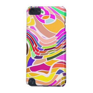 Colorful Abstract Art, Colorful Shapes White Lines iPod Touch (5th Generation) Case