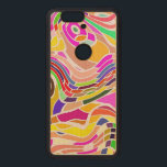"""Colorful Abstract Art, Colorful Shapes White Lines Wood Nexus 6P Case<br><div class=""""desc"""">Colorful abstract art. Colorful shapes and white curved lines. White curves protecting the colorful shapes.</div>"""