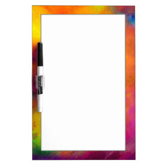 Colorful Abstract Art Dry Erase Board