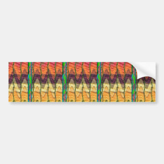 Colorful Abstract art from farm carrot nature love Bumper Sticker