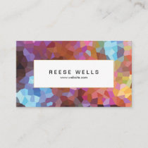 Colorful Abstract Art Geometric Pattern Business Card