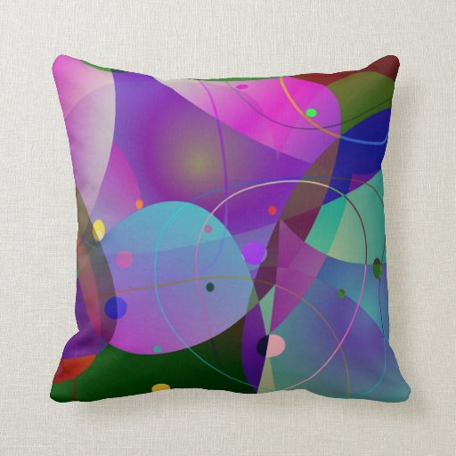Colorful Abstract Art Geometric Shapes Throw Pillow Zazzle