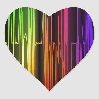 Colorful Abstract Art Heart Sticker
