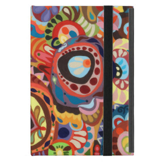 Colorful Abstract Art iPad Mini Case w/ Kickstand