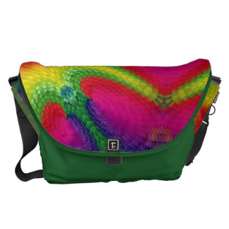 Colorful abstract art large bag messenger bags