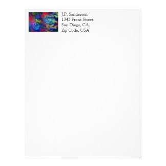 Colorful Abstract Art Letterhead