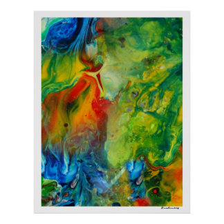 Colorful Abstract Art-Light Torch Poster
