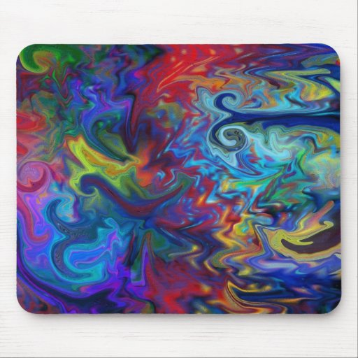 Colorful Abstract Art Mouse Pad