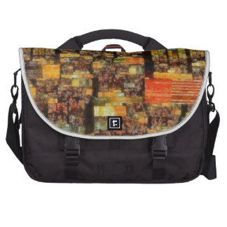 Colorful Abstract Art No 3 Laptop Messenger Bag