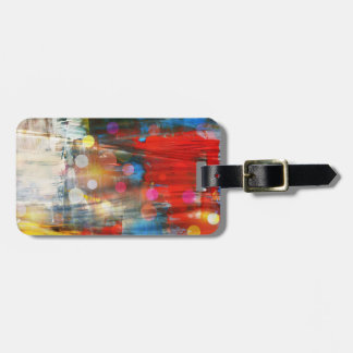 Colorful Abstract Art Paint Splatters Design Bag Tag