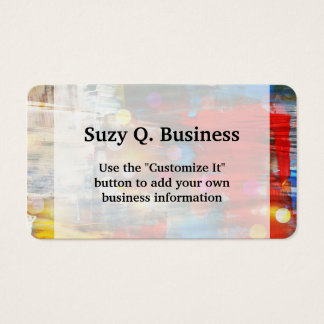 Colorful Abstract Art Paint Splatters Design Business Card